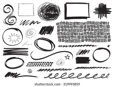 Vector Pen Scribbles and Marks