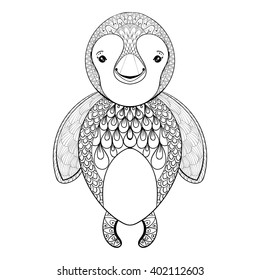 vector penguin adult coloring page 260nw