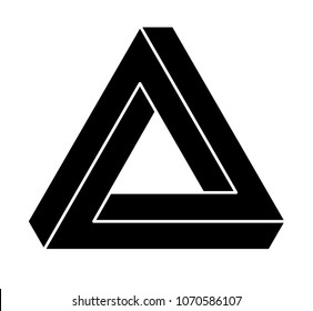 Vector Penrose triangle on white background