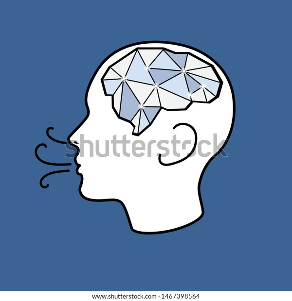 Vector of people breath make them refreshing, bright and clear brain.