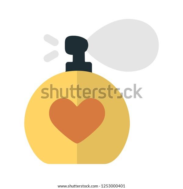 vector perfume bottle flat icon. beauty, fashion, glamour sign symbol
