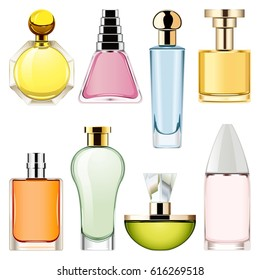 Vector Perfume Icons Set 2