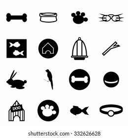 Vector Pet icon set on white background