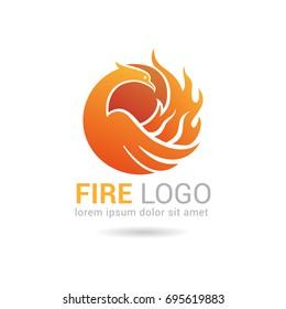 Vector Phoenix Logo template. Eps-8.