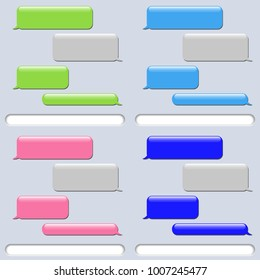 Vector phone chat bubbles. Sms messages. Set. Vector illustration