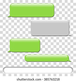 Vector Phone Chat Bubbles Sms Messages Illustration