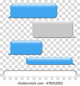Vector phone chat bubbles. Sms messages. Vector illustration