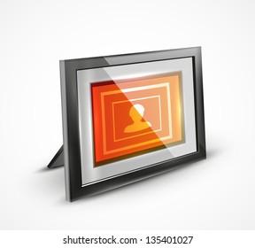 Vector photo frame 3d icon / illustration / banner design
