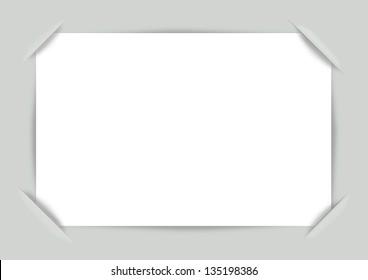 Vector photo frame corners. Illustration for design on a green background