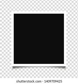 Vector Photo frame mockup design icon