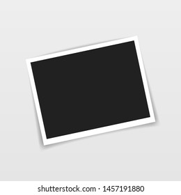 Vector Photo frame mockup design. Photo frame isolated on transparent background. Vector illustration.