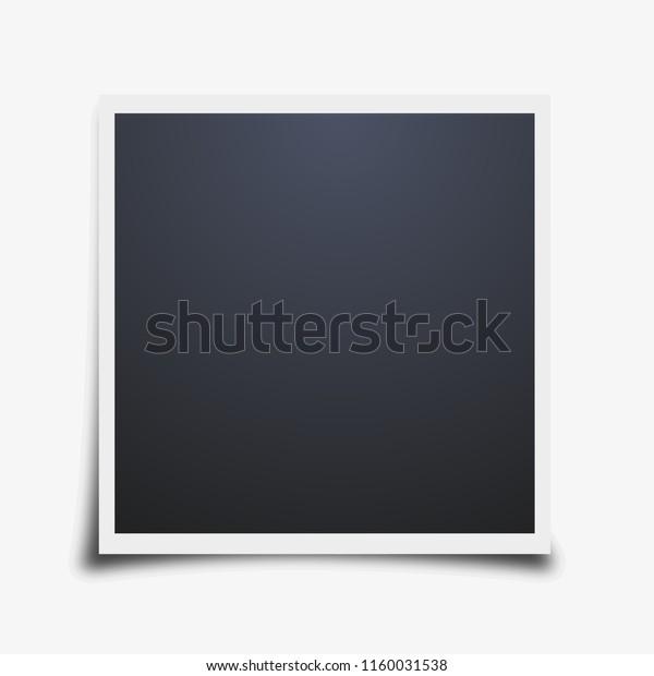 Vector photo frame mockup design. White border on a white background