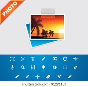 Vector photo icon set