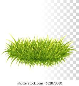 Vector Photo Realistic Big Tussock Of Green Fresh Grass.