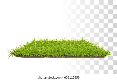 Vector Photo Realistic Rectangle Carpet Of Green Fresh Grass.