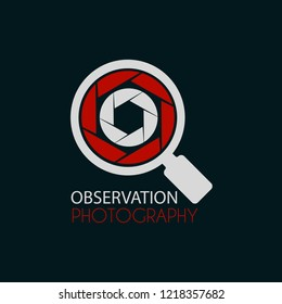 Vector Photography Circle Lens with Microscope logo design template. You can make icon, logo, symbols for photographer, photo research, observation, industry, trend, search, observation and etc.