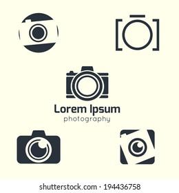 Vector photography icon. Photo  icon. Camera pictogram.