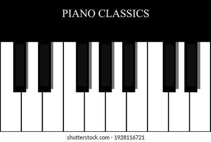 vector piano classical keyboard instrument illustration