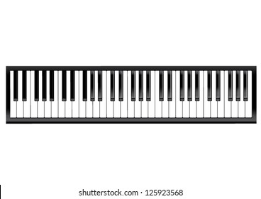 Vector piano keyboard