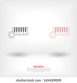 Vector Piano Keyboard Icon . Lorem Ipsum Illustration design