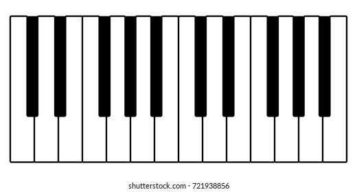 vector piano keys