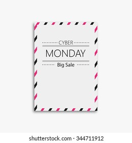 vector picture frame design with black friday
