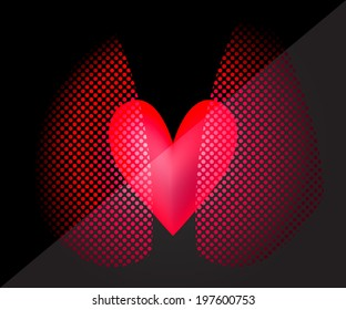 Vector Picture of the heart and lungs