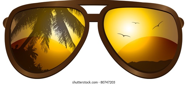 Vector picture with sunglasses