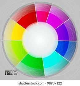 Vector pie chart on grey background