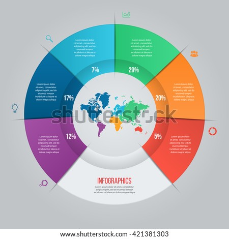 vector pie chart template graphs charts stock vector royalty free