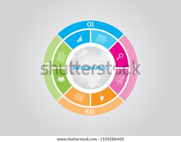 Vector Pie Chart Template Graphs Charts Stock Vector