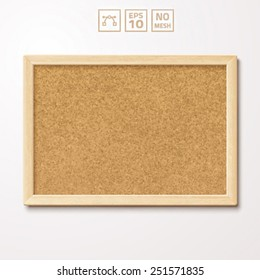 Vector pinboard in a wooden frame.
