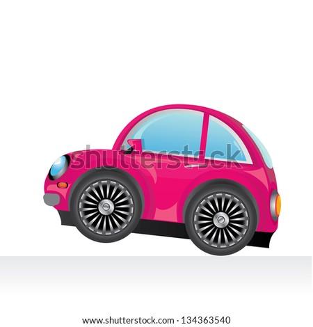 Vector Pink Car Icon Vector Toy Stock Vector Royalty Free