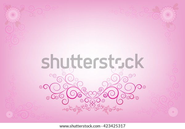 Vector Pink Invitation Card Layout Design Stock Vector