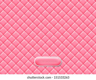 Vector pink vinyl upholstery padded glossy background