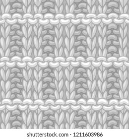 Vector Pique Rib Stitch Pattern. Сotton hand-knitted fabric material. High detailed knitting boundless background. Hand-drawn woolen knitwear.