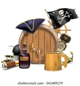 Vector Pirate Bar Concept