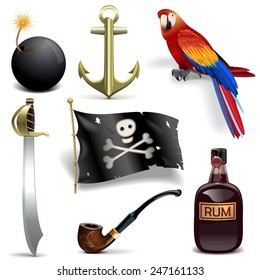 Vector Pirate Icons Set 2