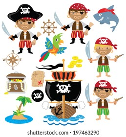 Vector pirates illustration