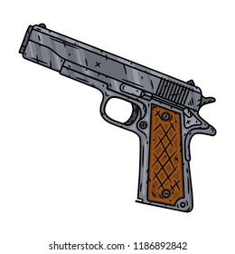 Vector pistol isolated of white background