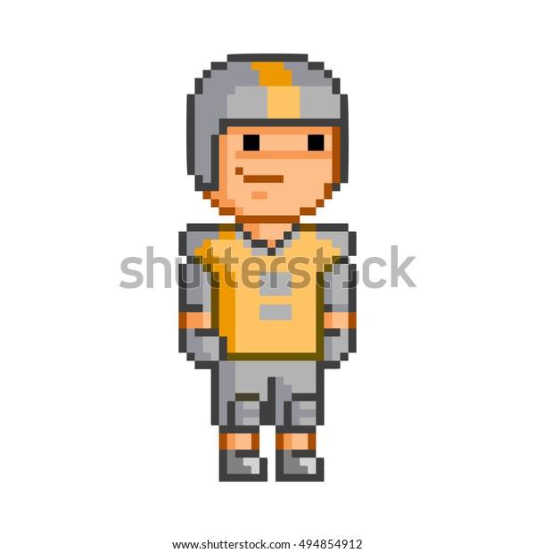 Image Vectorielle De Stock De Vector Pixel Art American