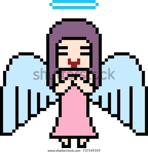 Vector Pixel Art Angel Isolated Stock Vector Royalty Free