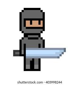 Pixel Art Ninja Images Stock Photos Vectors Shutterstock