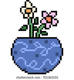 Pixel Flower Images, Stock Photos & Vectors | Shutterstock