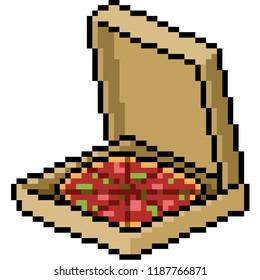 Pixel Art Pizza Kawaii