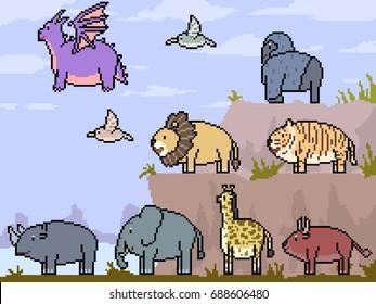 Imágenes Fotos De Stock Y Vectores Sobre Lion Pixel