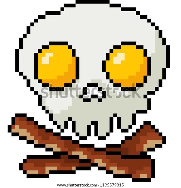 Image Vectorielle De Stock De Vector Pixel Art Skull