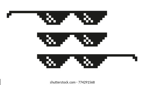 Vector pixel glasses