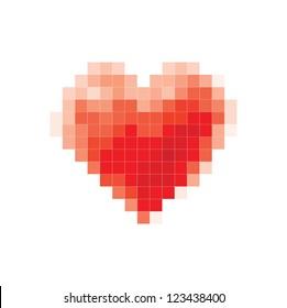 vector pixel heart