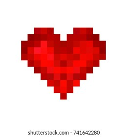 Vector Pixel Heart icon